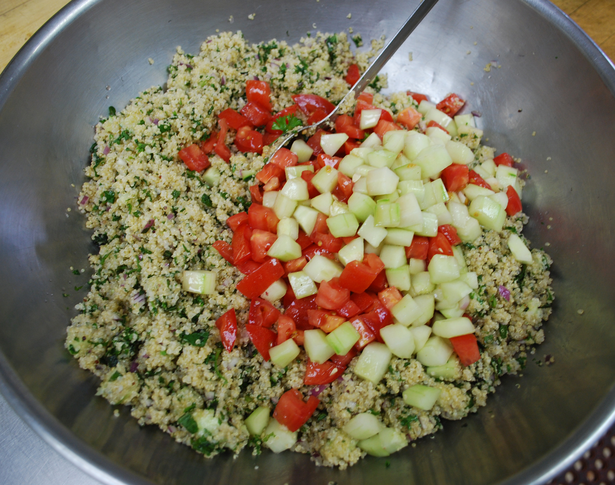Quinoa Tabouli Recipe - lighter version of the original tabouli