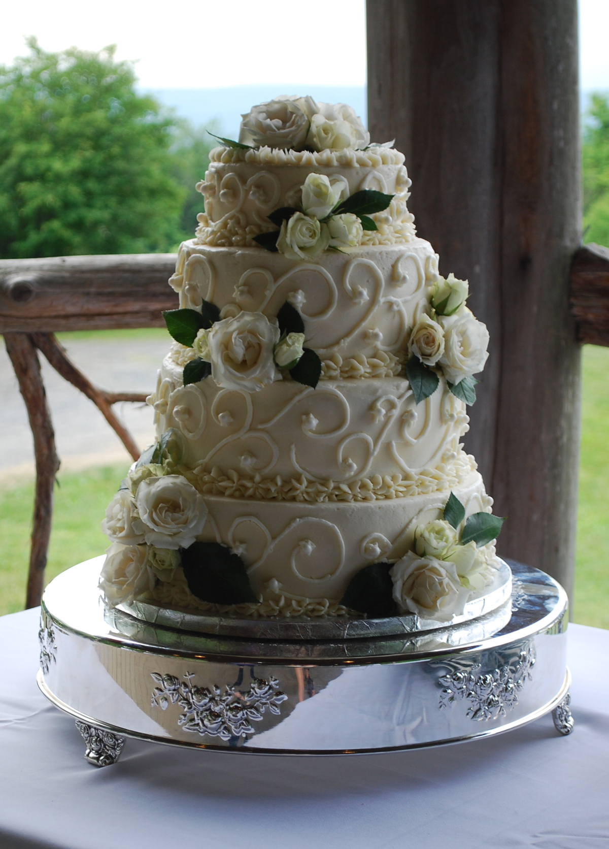 Serving Wedding Cake To Guests