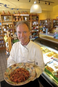 Chef Richard Erickson with a delicious plate of food.